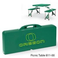 University of Oregon Printed Picnic Table Hunter Green