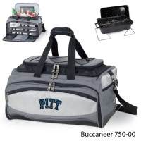 University of Pittsburgh Printed Buccaneer Cooler Grey/Black