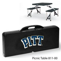University of Pittsburgh Printed Picnic Table Black