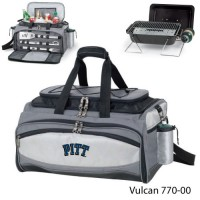University of Pittsburgh Embroidered Vulcan BBQ grill Grey/Black
