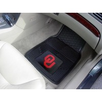 University of Oklahoma Heavy Duty 2-Piece Vinyl Car Mats