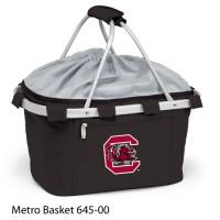University of South Carolina Printed Metro Basket Picnic Basket Black