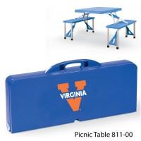 University of Virginia Printed Picnic Table Royal Blue