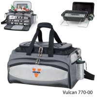 University of Virginia Embroidered Vulcan BBQ grill Grey/Black