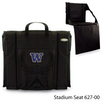 University of Washington Printed Stadium Seat Black