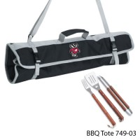 University of Wisconsin Printed 3 Piece BBQ Tote BBQ set Black
