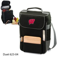University of Wisconsin Embroidered Duet Tote Black