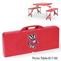 University of Wisconsin Printed Picnic Table Red