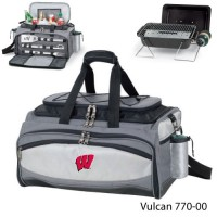 University of Wisconsin Embroidered Vulcan BBQ grill Grey/Black