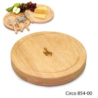 University of Wyoming Engraved Circo Cutting Board Natural
