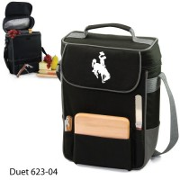 University of Wyoming Embroidered Duet Tote Black