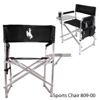 University of Wyoming Embroidered Sports Chair Black