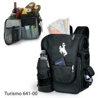 University of Wyoming Embroidered Turismo Tote Black