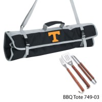 Tennessee University Knoxville Printed 3 Piece BBQ Tote BBQ set Black
