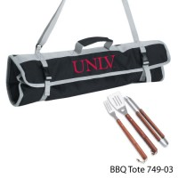 UNLV Printed 3 Piece BBQ Tote BBQ set Black