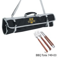Vanderbilt University Printed 3 Piece BBQ Tote BBQ set Black