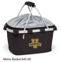 Vanderbilt University Embroidered Metro Basket Picnic Basket Black