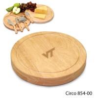 Virginia Tech Engraved Circo Cutting Board Natural