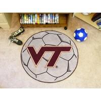 Virginia Tech Soccer Ball Rug