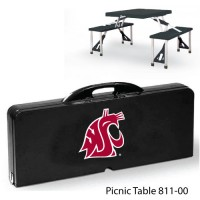 Washington State Printed Picnic Table Black