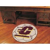 Central Michigan University Soccer Ball Rug