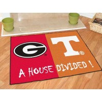 Georgia - Tennessee All-Star House Divided Rug