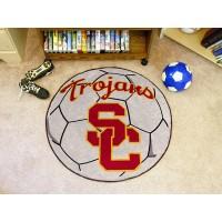 University of Southern California Soccer Ball Rug