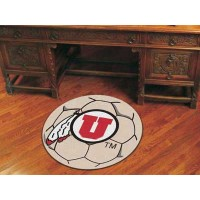 University of Utah Soccer Ball Rug