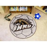 Western Michigan University Soccer Ball Rug