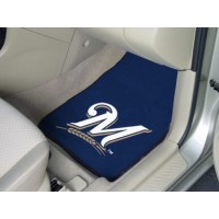 MLB - Milwaukee Brewers 2 Piece Front Car Mats