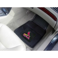 MLB - St Louis Cardinals Heavy Duty 2-Piece Vinyl Car Mats