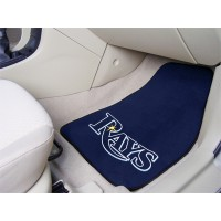 MLB - Tampa Bay Rays 2 Piece Front Car Mats
