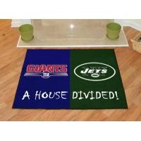 NFL - NY Giants - NY Jets All-Star House Divided Rug