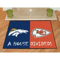 NFL - Denver Broncos - Kansas City Chiefs All-Star House Divided Rug