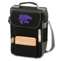 Kansas State Embroidered Duet Tote Black