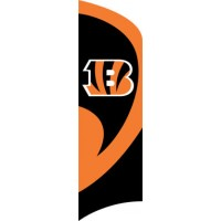 TTBE Bengals Tall Team Flag with pole