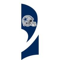 TTDA Cowboys Tall Team Flag with pole