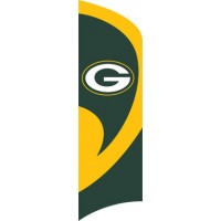 TTGB Packers Tall Team Flag with pole
