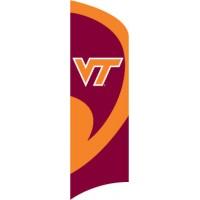 TTVT Virginia Tech Tall Team Flag with pole