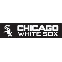 BCWS WHITE SOX Giant 8-Foot X 2-Foot Nylon Banner