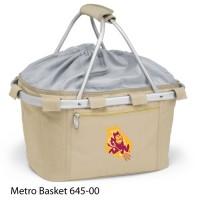Arizona State Printed Metro Basket Picnic Basket Beige