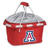 University of Arizona Printed Metro Basket Picnic Basket Red