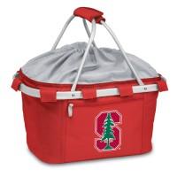 Stanford University Printed Metro Basket Picnic Basket Red