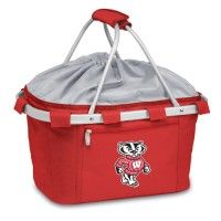 University of Wisconsin Printed Metro Basket Picnic Basket Red