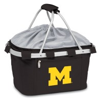 University of Michigan Printed Metro Basket Picnic Basket Black