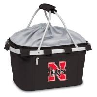 University of Nebraska Printed Metro Basket Picnic Basket Black