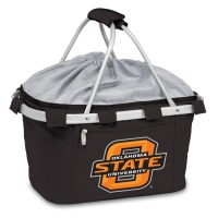 Oklahoma State Printed Metro Basket Picnic Basket Black