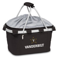 Vanderbilt University Printed Metro Basket Picnic Basket Black