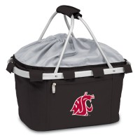 Washington State Printed Metro Basket Picnic Basket Black
