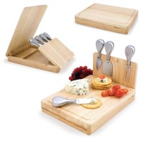 Picnic Time Asiago - Natural Wood Cutting Board